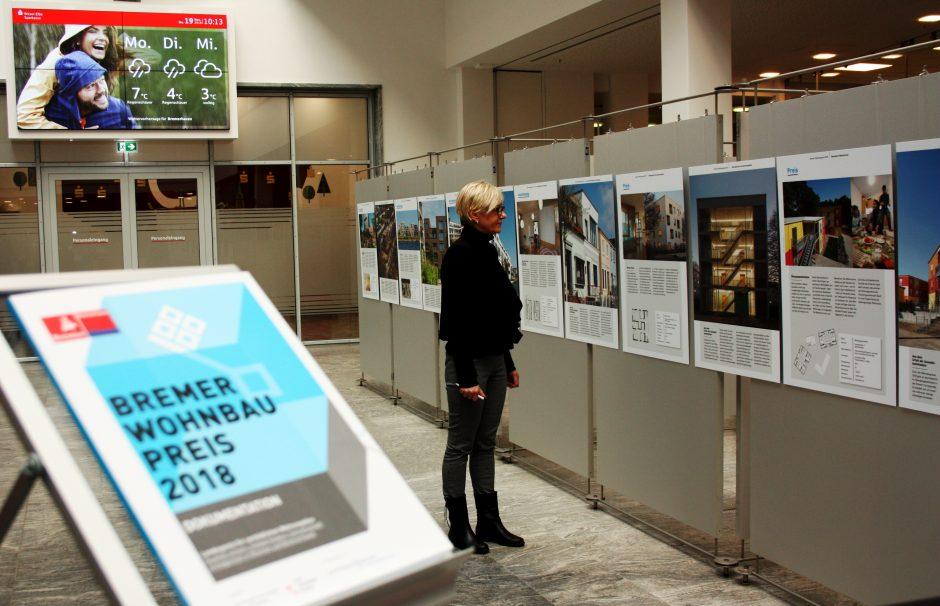 Ausstellung Bremer Wohnbaupreis in der Hauptstelle der Weser-Elbe Sparkasse
